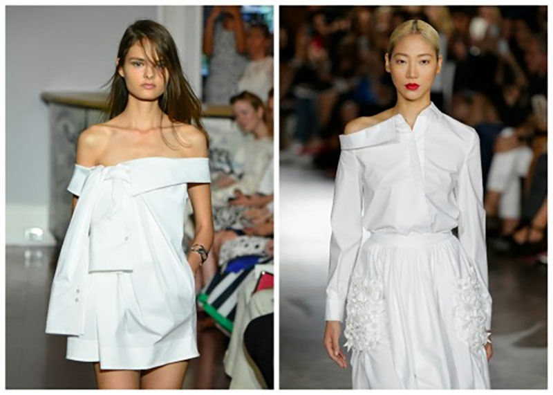 Re-imagined white button-downs