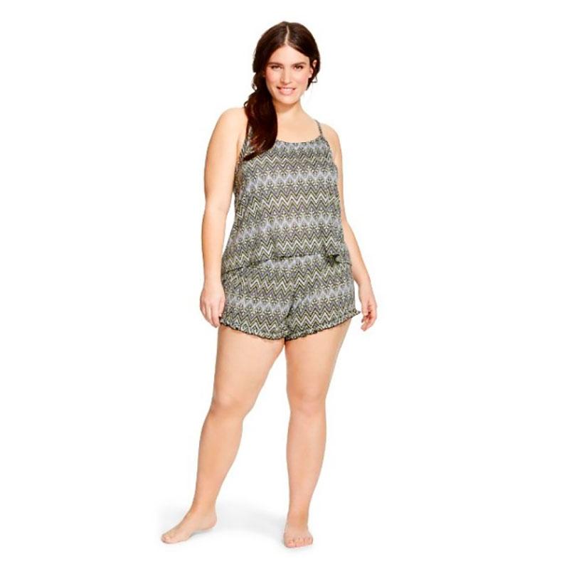 Women's Plus Size Sleep Knit Shorts Set
