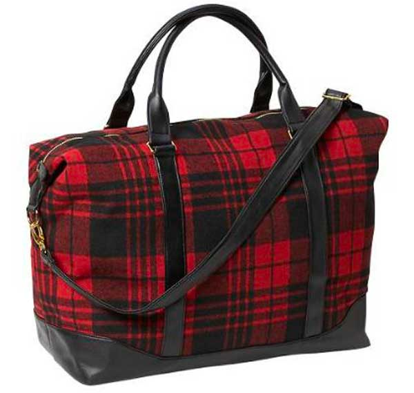 Old Navy Plaid Weekender Bag