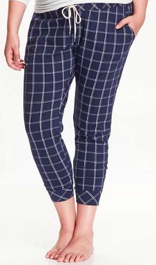 Plaid Jogging Pants