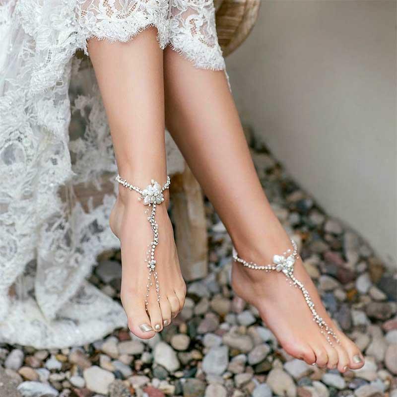Barefoot wedding sandals