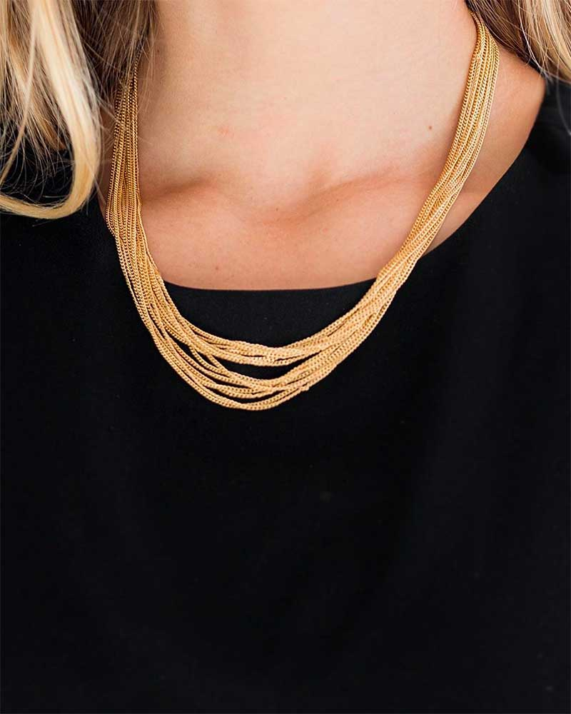 Dainty gold chains