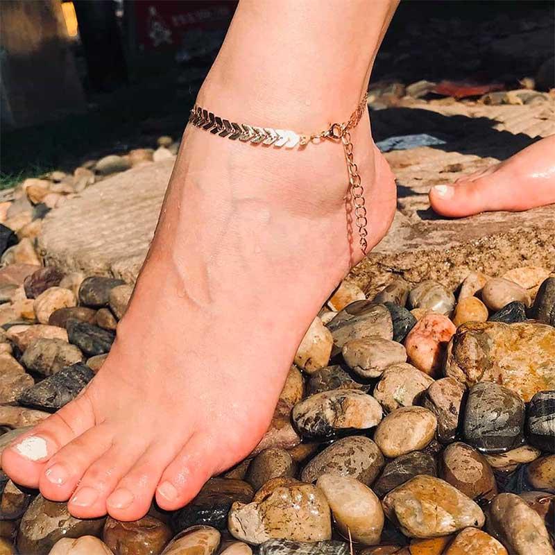 Metal anklets