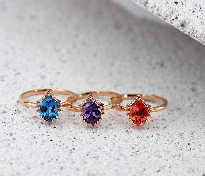 Multicolored stones jewelry