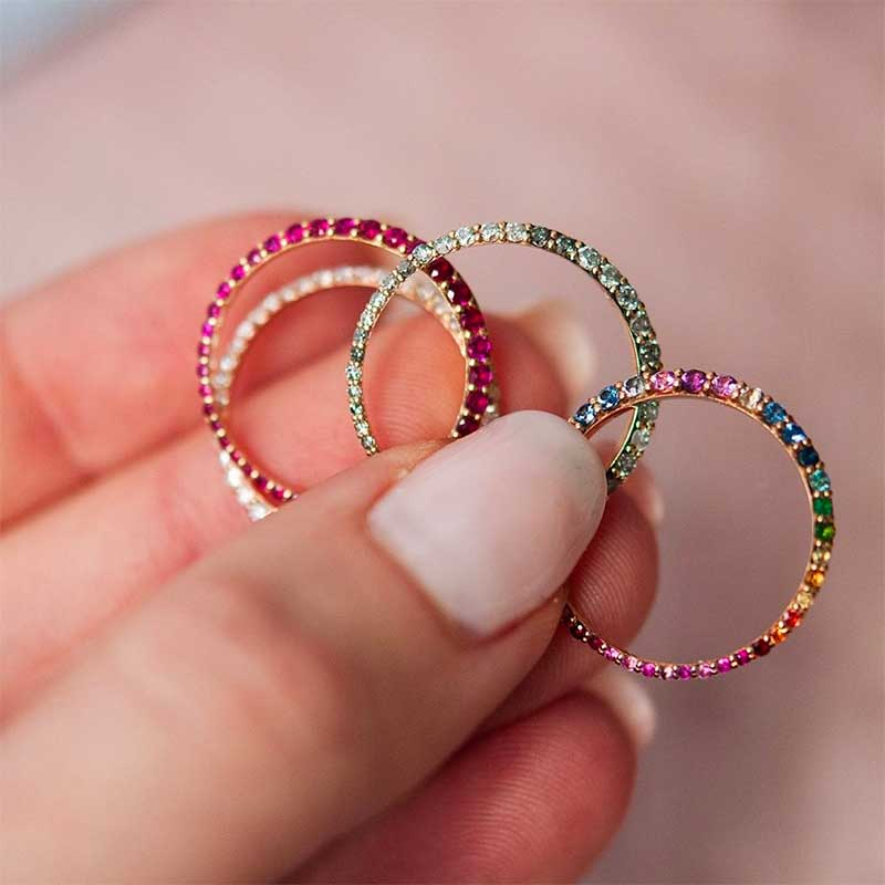 Rainbow ring set