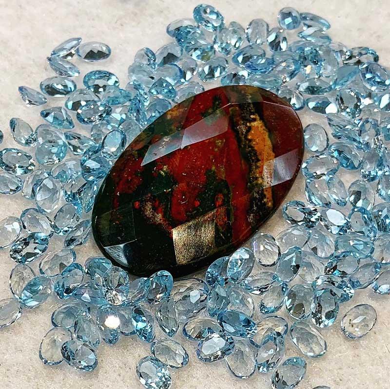 Bloodstone Semi Precious Stones