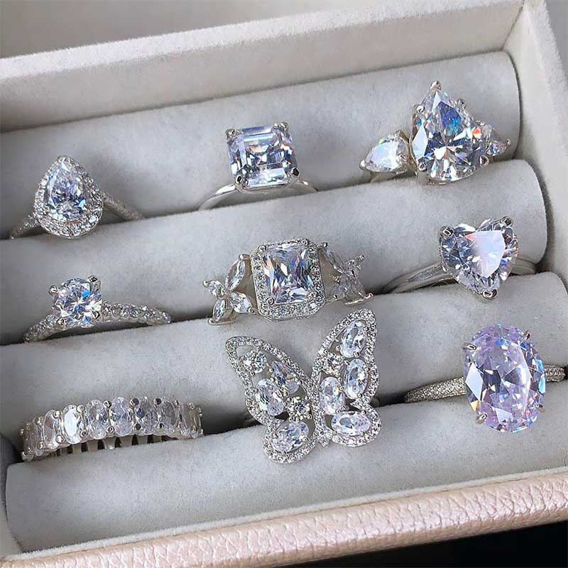 CZ Sterling Silver Rings