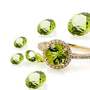 Glistening green Peridot