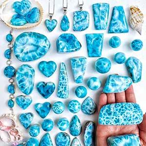 Larimar Semi Precious Stones