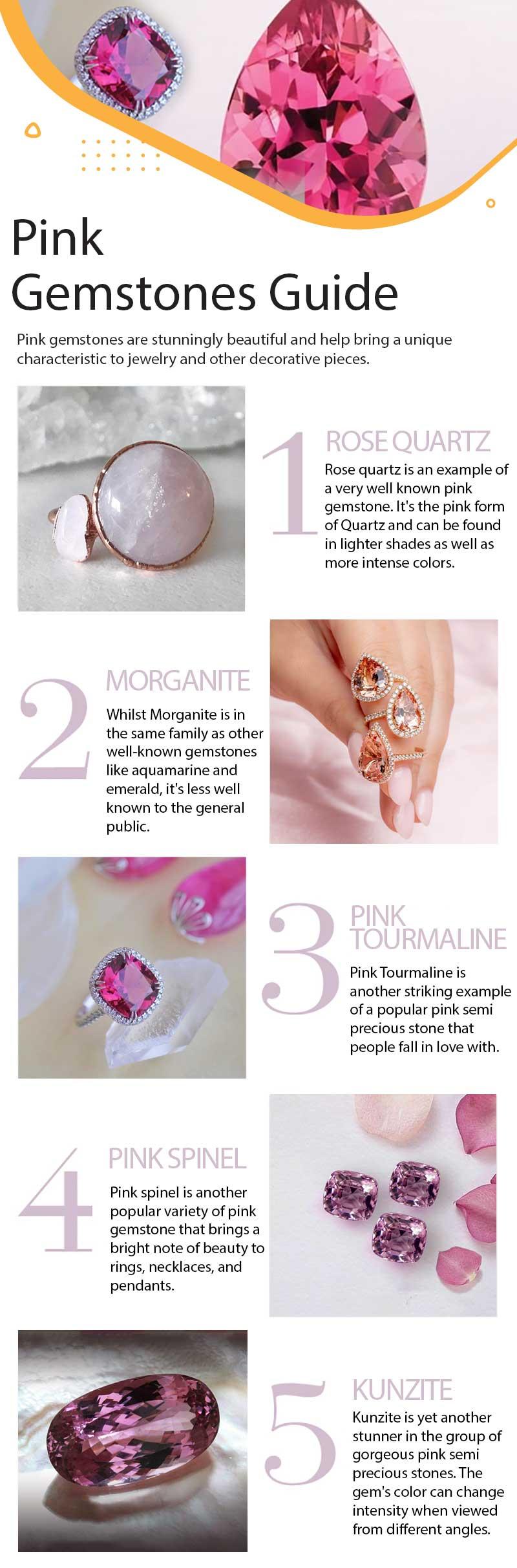 Pink gemstones