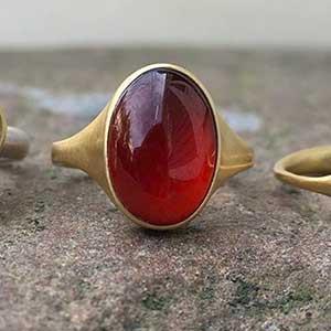 Hessonite garnet ring. Hessonite Garnet Faceted Cut Round Quality Loose Gemstone.