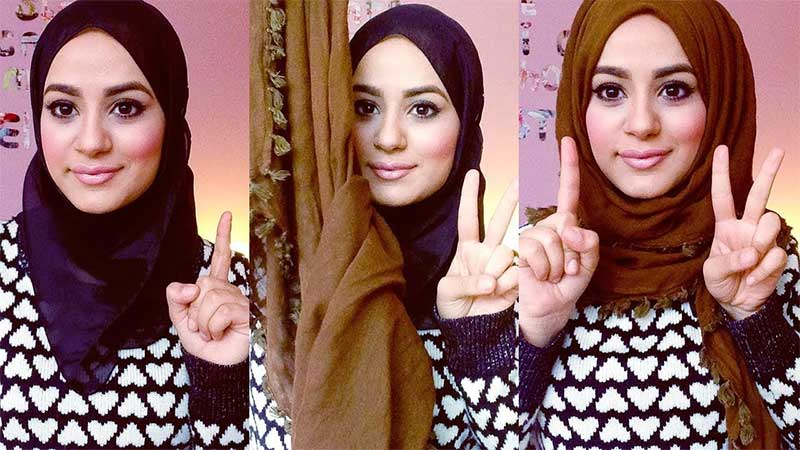 Heart-shaped face Hijab Style