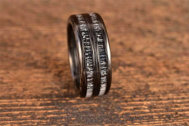 Mens black tungsten wedding bands are available in many different styles on our website.
