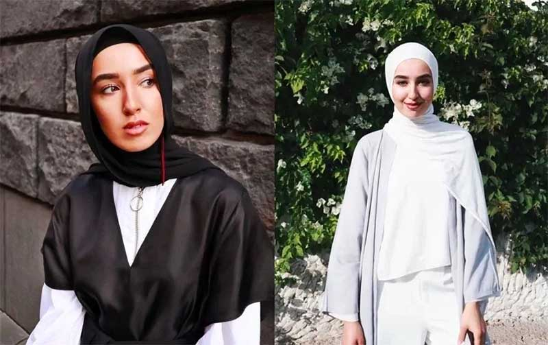 Oval face Hijab Style