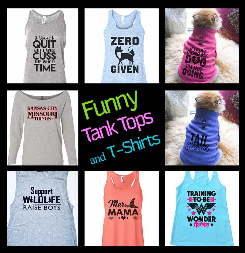 Women's Funny Tank Tops and T-Shirts at Funny Threadz