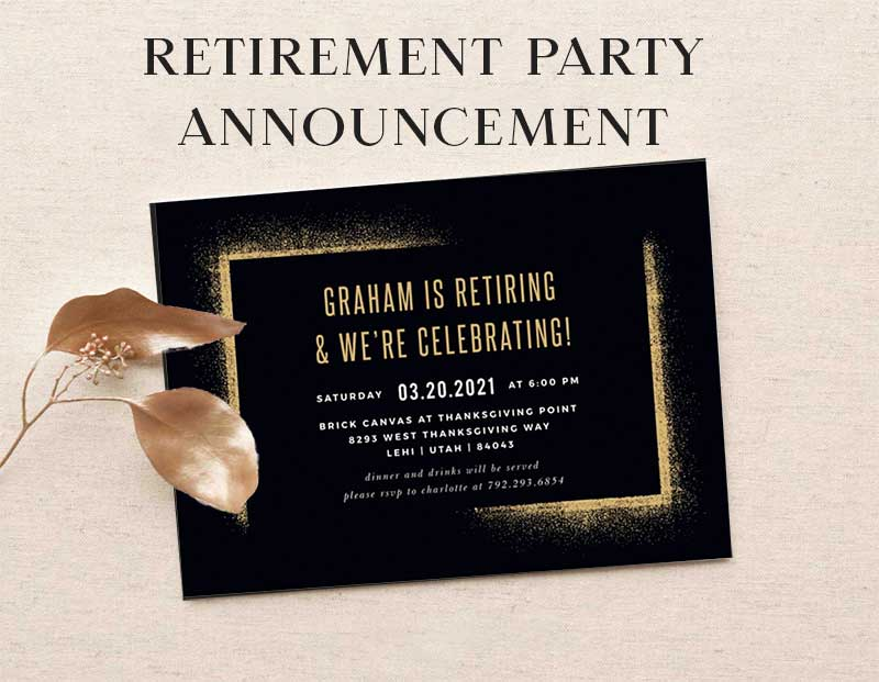Retirement party announcement - Choosing the Right Party Invitations.