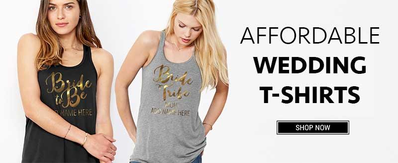 Affordable Wedding T-Shirts