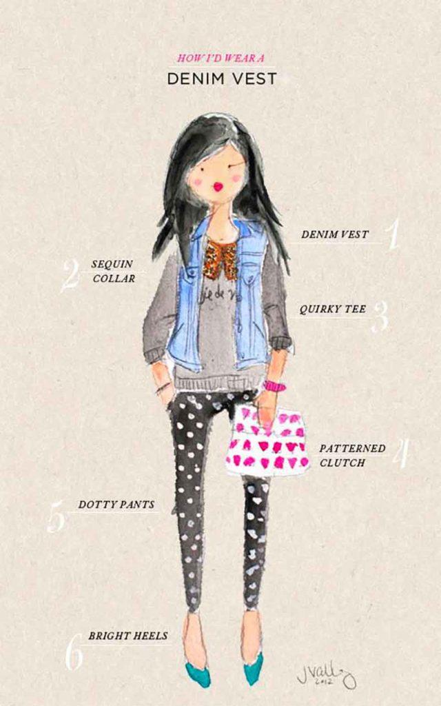 How do you wear your denim vest