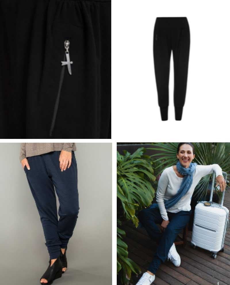Slouchy zip pant: Everyday Cashmere