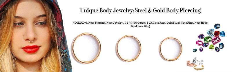 Unique Body Jewelry: Steel & Gold Body Piercing
