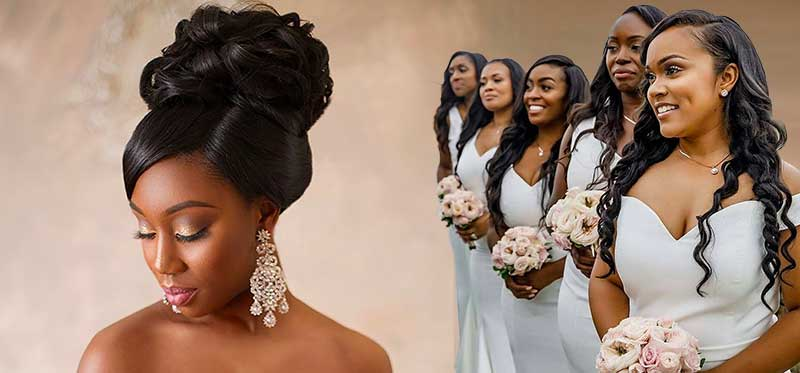 Wedding Hair Wigs For African American Women