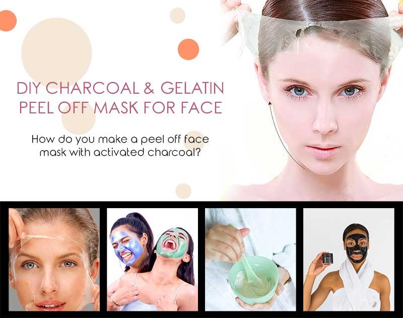 DIY Charcoal & Gelatin Peel Off Mask for Face