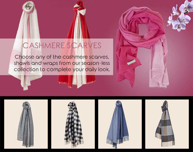 How To Wear Cashmere Scarves