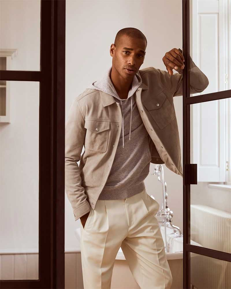 Reiss Inspired by classic trucker styles