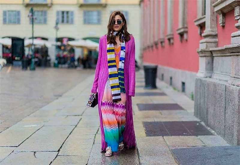Try a Colorful Scarf With a Colorful Outfit