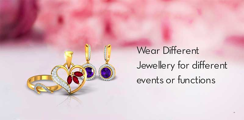 Wear different jewelry for different events