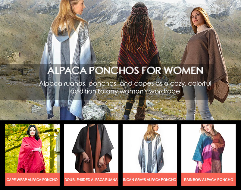 Fashion at Its Best with Alpaca Ponchos for Women