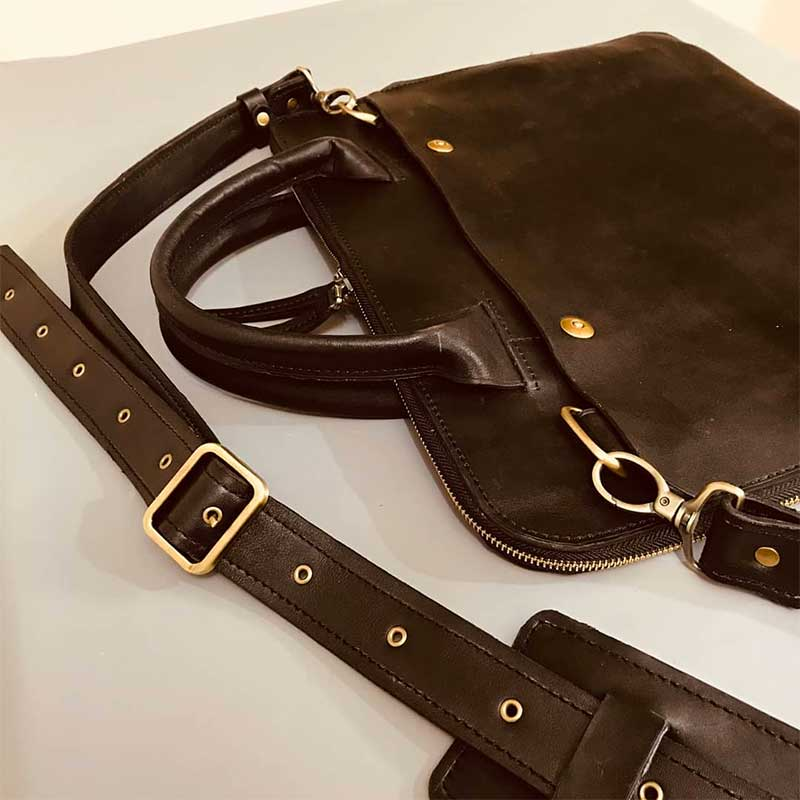 Repairing water-based leather
