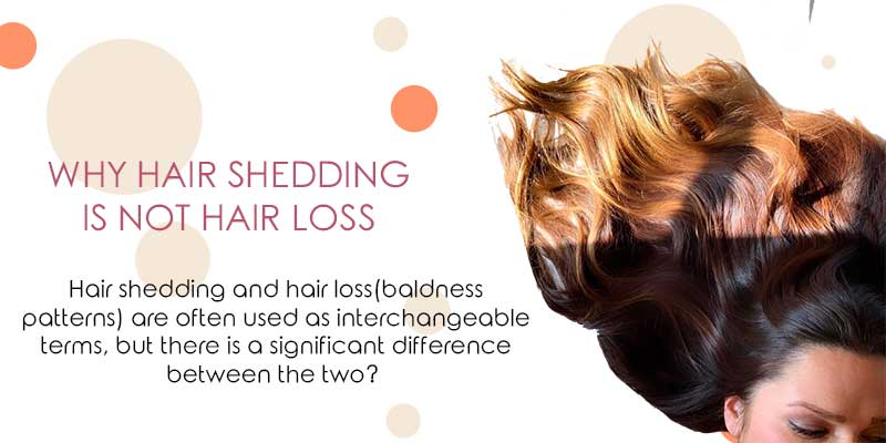 Why Hair Shedding Is Not Hair Loss
