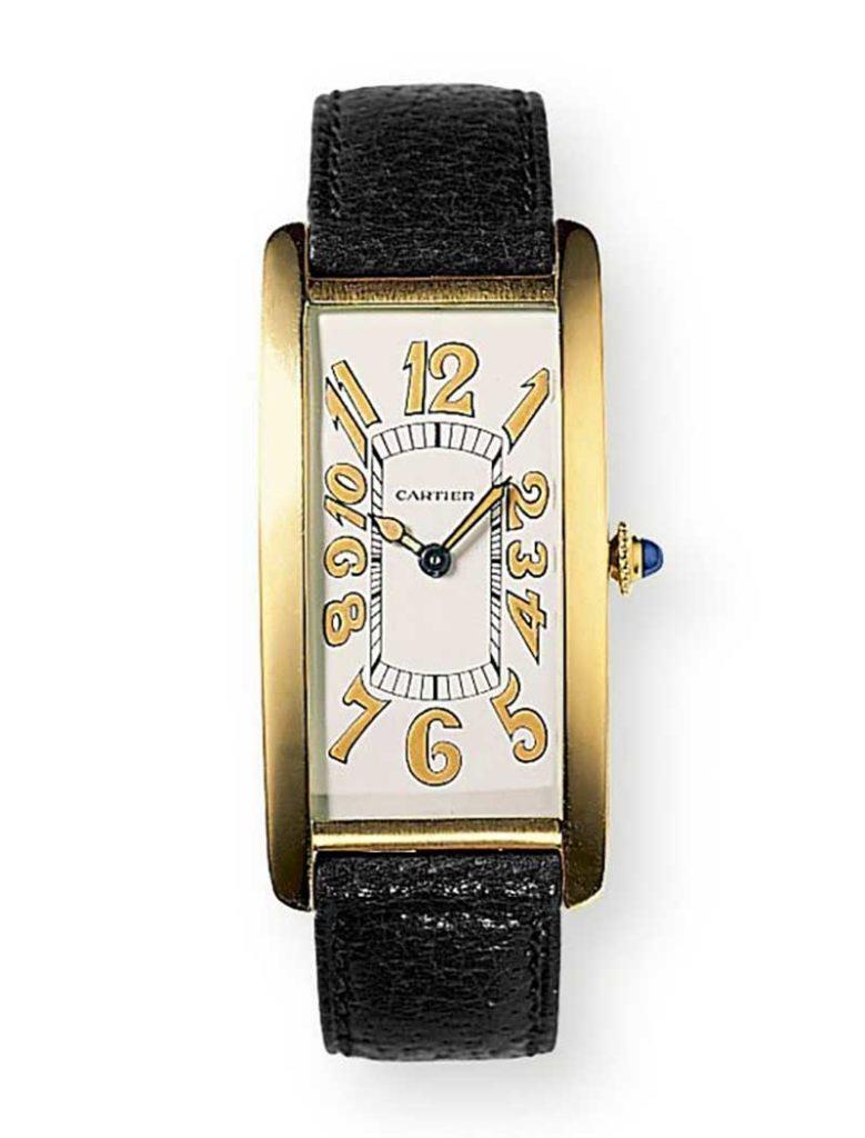 Tank Cintrée wristwatch Cartier London, 1929.