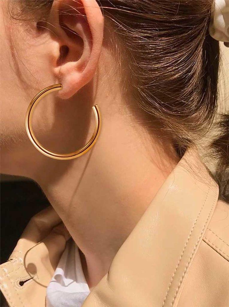 Open Cuff Hoop Earrings