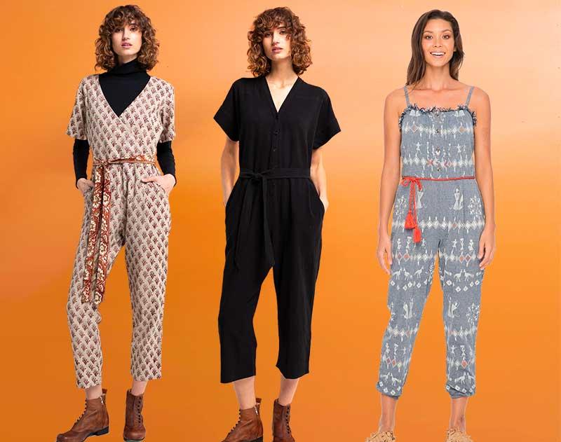 Summer Style  Block Prints Jumpsuits