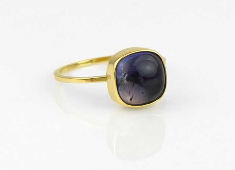 Blue Iolite Ring - Etsy, sasajewelry