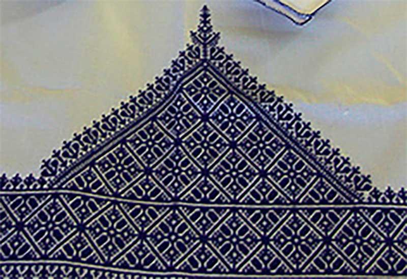 Moroccan embroidery cotton pillow case quality cotton decorative