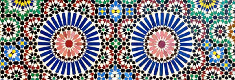 moroccan tiling, geometric, embroidery, towels