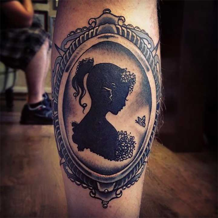 Stunning Silhouette Tattoos: Cameo Girl