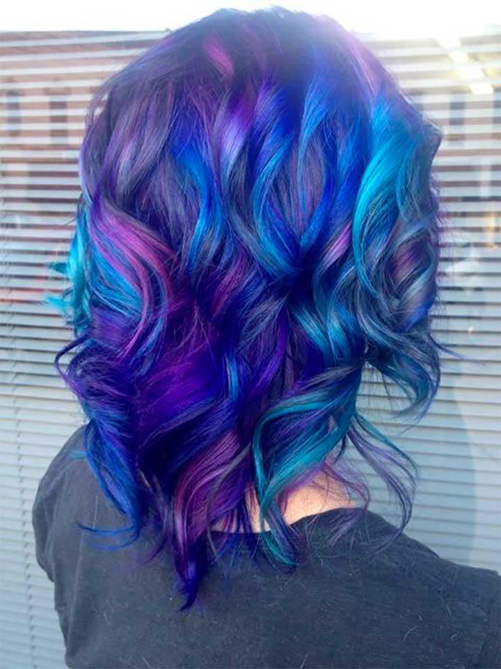 Rainbow Hair Color Ideas: Cool Highlights