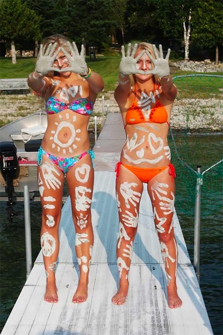 Custom tanning stickers