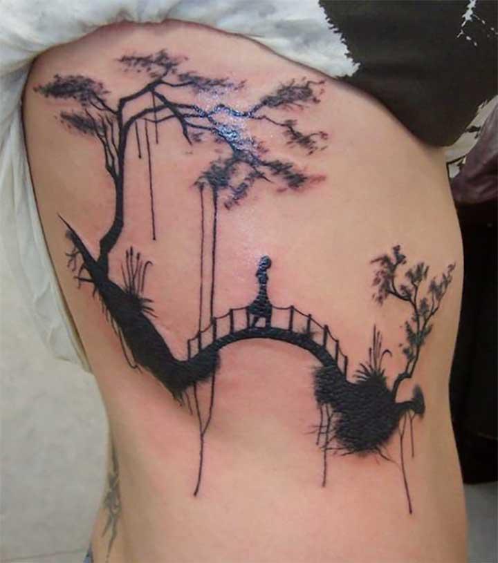 Dripping Bridge Tattoo