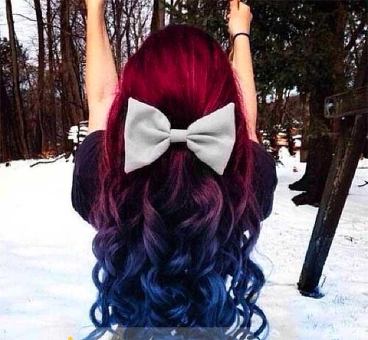Rainbow Hair Color Ideas: Fuchsia And Blue