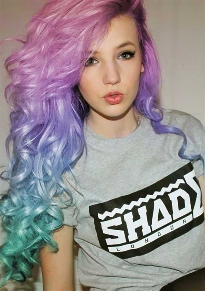 Pastel Pink, Purple And Mint Hair
