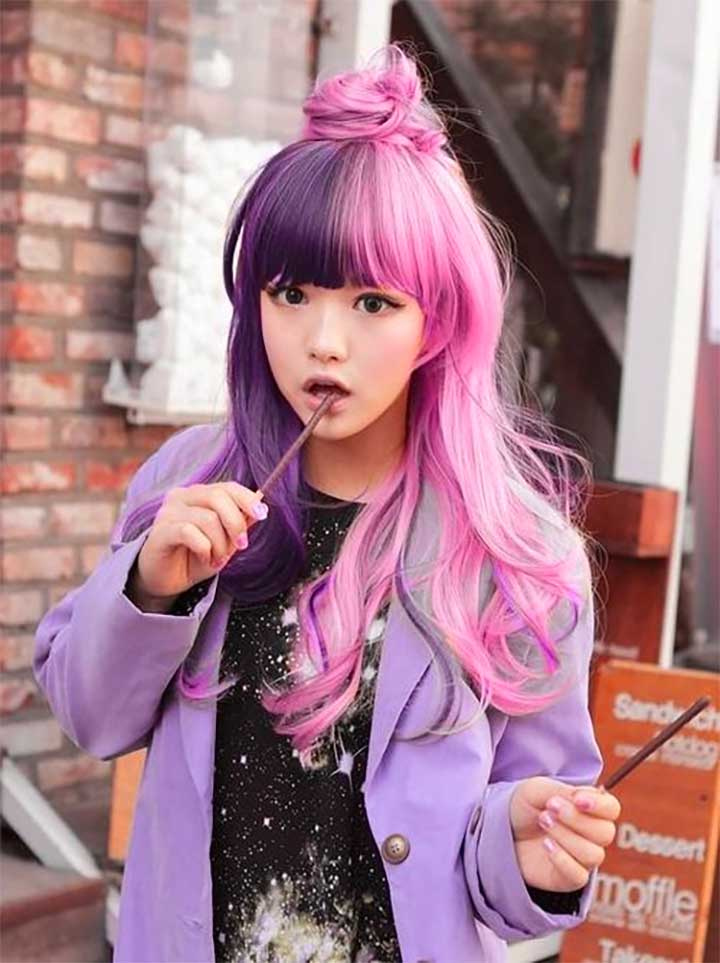 Purple And Pastel Pink