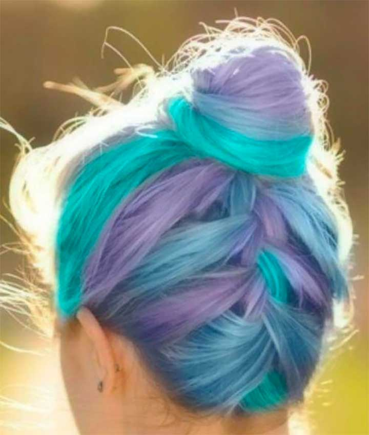 Purple, Blue And Turquoise