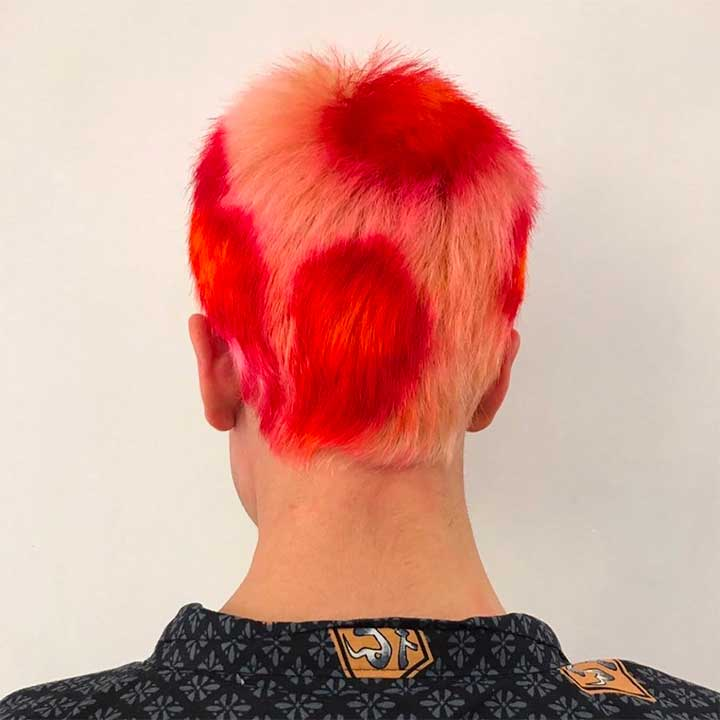 10 Buzzcuts That Will Make You Want To Shave Off Your Long Hair: Red and Yellow Spots