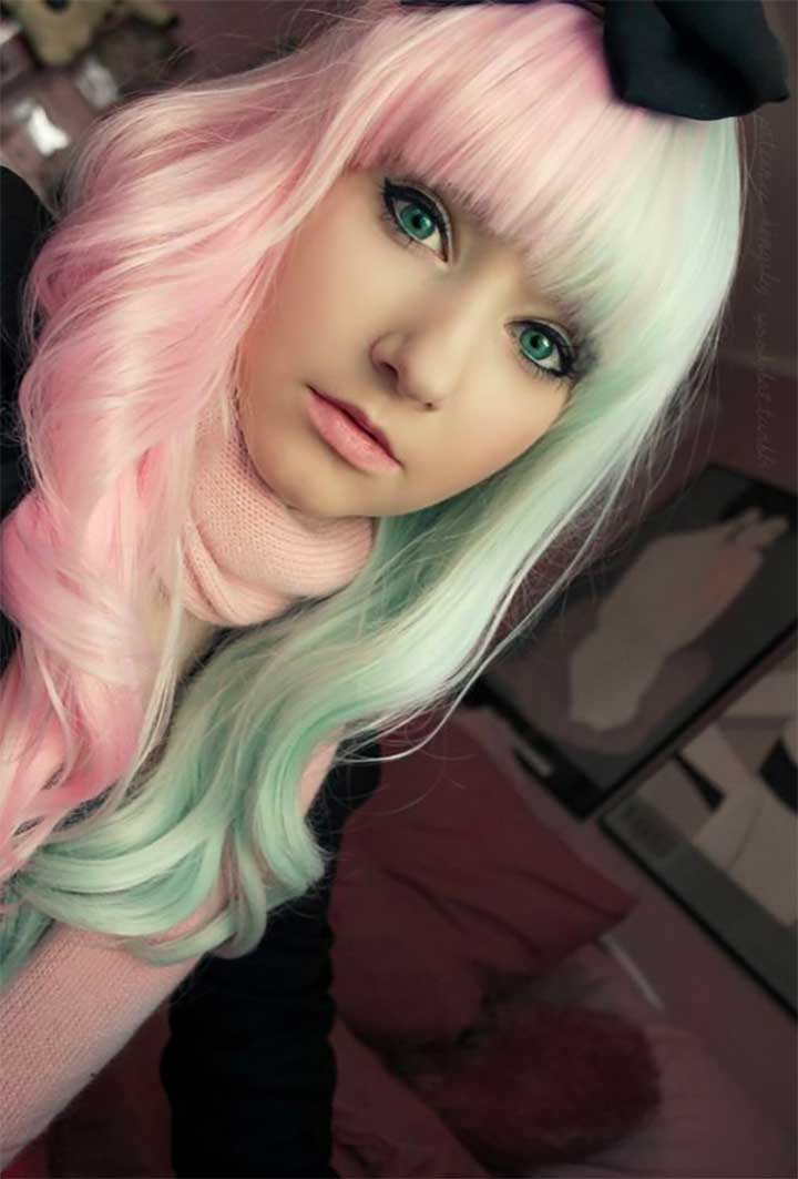 Soft Pink And Mint