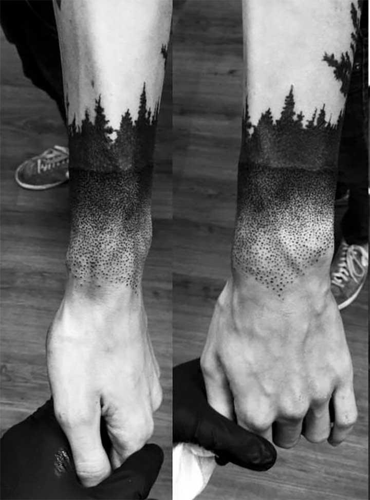 Tree Fadeout Tattoo